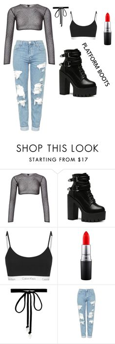 """""""Platform"""" by ebonimichelle ❤ liked on Polyvore featuring PA5H, MAC Cosmetics, Joomi Lim and Topshop"""