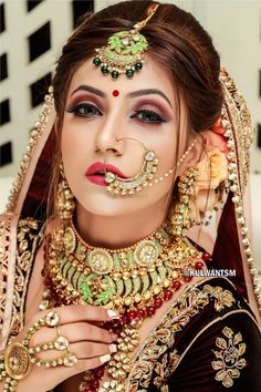 Photo From bride 3 - By Kulwant Singh Mararr Bridal Makeup Images, Bridal Makeup Looks, Indian Bridal Makeup, Bridal Makup, Beautiful Indian Brides, Beautiful Indian Actress, Beautiful Bride, Bridal Poses, Bridal Portraits