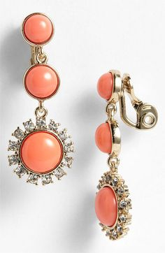 Anne Klein 'Socialite' Clip Drop Earrings