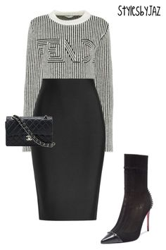 """""""Let your style do the talking"""" by harrisjazmin on Polyvore featuring Fendi, Roland Mouret, Christian Louboutin and Chanel"""