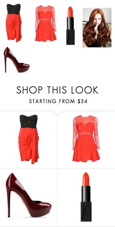 """""""tudo vermelho"""" by naruto0123 ❤ liked on Polyvore featuring Emilio Pucci, Sergio Rossi and NARS Cosmetics"""