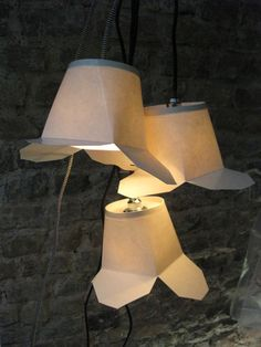Too cool. Chinese takeout container lamps from Collective Paper Aesthetics on feltandwireshop.com
