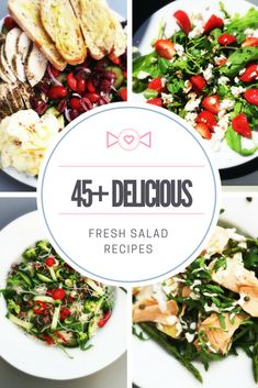 Fresh and tasty salad recipes, main course salads, side salads, picnic salads, healthy dinner recipes