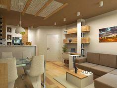 """Днес в нашата рубрика """"Моето малко жилище""""ще ви покажем как 46 кв. м са напълно достатъчни, за да се изгради един практичен и същевременно красив интериорен дизайн. Малкото жилище се намира в жилищен комплекс """"Вива"""" във Варна, а интериорният дизайн, както и дизайна на мебелите са на студио INDESIGN. Проектът включва хол, спалня, антре, както [&hellip"""