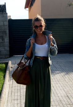 34 Fashionable Casual Combinations With Long Skirts For ...