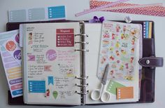 Decoração de agenda semanal em duas paginas, stickers, to do list, filofax malden, washi tape, wo2p