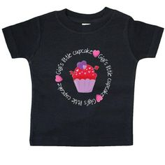 Inktastic Gigi's Cupcakes Baby T-Shirt Cupcake Heart Gigi Grandparent Little Valentines Day Red Pink T-shirt Infant Tees Shower Gift Clothing Apparel, Infant Boy's, Size: 12 Months, Black