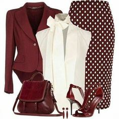 Classy Outfit - Love this outfit, color and style Komplette Outfits, Classy Outfits, Casual Outfits, Fashion Outfits, School Outfits, Skirt Outfits, Modest Fashion, Fasion, Stylish Work Outfits