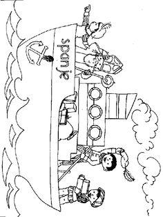 boot van sinterklaas coloring page
