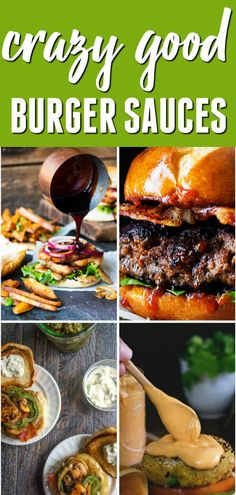 are 30 burger sauce recipes that will give America's favorite sandwich a zing! They are oozing with flavor and will make just about any burger complete! Best Burger Sauce, Burger Sauces Recipe, Burger Toppings, Good Burger, Sauce Recipes, Copycat Recipes, Grilled Hamburger Recipes, Hamburger Sauce, Hamburger Patties