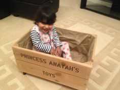 Personalised Toy Box Crate