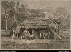 Surgeon's hut in the bush [picture] Australian Bush, Australian Homes, Australia Day, Victoria Australia, Australia Kangaroo, Gothic Aesthetic, Natural Homes, Australian Architecture, Old Farm Houses