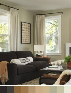 Sofa chocolate, paleta de colores que evoca la naturaleza • Natural palette for a brown sofa