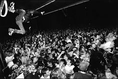Stagedivers at a Nirvana concert, January 6, 1990