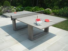 Playing ping pong on concrete? Read more Stylish Concrete Ping Pong Table Looks Cool, Will Cost You An Arm and a Leg Concrete Table, Concrete Furniture, Bar Furniture, Furniture Design, Bedroom Furniture, Concrete Planters, Cement, Fireplace Furniture, Concrete Pool