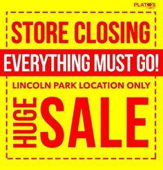 It's a sad time for us at Plato's Lincoln Park but a great opportunity for you to get some great deals! Discounts up to 70% off.  Perfect time to stock up for winter. Coats sweaters hoodies jeans boots tops shoes and more. #everythingmustgo #storeclosingsale . Store Hours  11am - 7pm Mon - Sat 12pm - 6pm Sun http://ift.tt/2ykuulV - http://ift.tt/1HQJd81