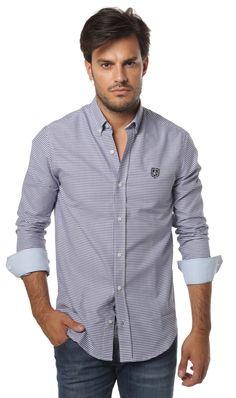 Comprar Camisa Valecuatro manga larga de cuadros estilo puños vichy en color…