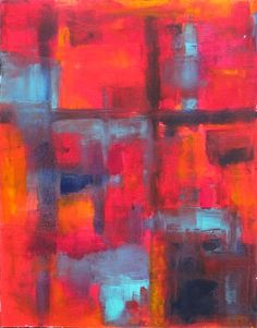 Big Sister, acrylic painting by Linda Donohue $265 #painting #art #abstract