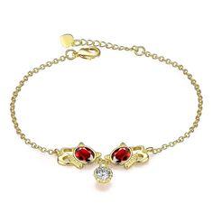 18KRGP Gold Women Fashion Bracelets & Bangles Free Shipping World Wide