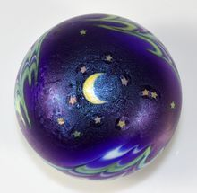 "Lundberg Studios ""Night Sky"" Paperweight by Daniel Salazar 