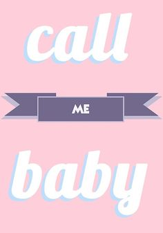 "EXO CALL ME BABY TYPOGRAPHY PASTEL"" Posters by peachy peachy ..."