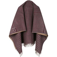 Fendi stripe print scarf (22.480.210 IDR) ❤ liked on Polyvore featuring accessories, scarves, red, fendi shawl, striped scarves, striped shawl, fendi scarves and tassel scarves