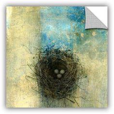 Elena Ray Bird Nest Gallery-Wrapped Canvas, Size: 18 x 18, Blue
