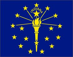 Indiana State Flag - About the Indiana Flag, its adoption and history from NETSTATE.COM