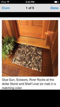 Easy DIY Door Mat Made Out Of Rocks ;)