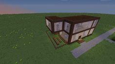 Orphea2012 Youtube et Minecraft: Une maison moderne sur ma map déco construction Mi...