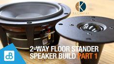 2-Way Floor Stander SPEAKER BUILD with Kartesian PART 1 - by SoundBlab - YouTube