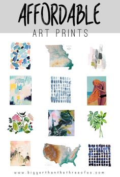 Round-up of Affordable Art Prints