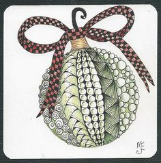 christmas zentangle cards to make Christmas Doodles, Christmas Drawing, Christmas Art, Christmas Ornament, Zentangle Drawings, Doodles Zentangles, Zentangle Patterns, Tangle Doodle, Zen Doodle