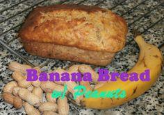 Pan de Plátano con Cacahuetes