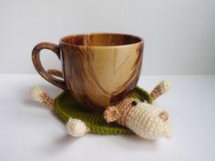 Crochet Coaster monkey Amigurumi monkey knitting by FunnyAmiToys