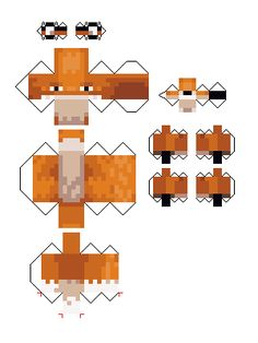 Papercraft Fox and Snow fox (Minecraft snapshot Minecraft Stables, Easy Minecraft Houses, Minecraft Mobs, Minecraft Creations, Minecraft Pixel Art, Minecraft Crafts, Minecraft Projects, Minecraft Party, Minecraft Skins