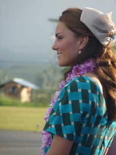 Kate at Welcoming Ceremony in Solomon Islands, wearing Jonathan  9.16.2012