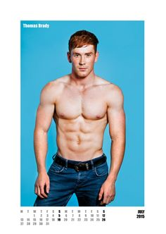 #redhot #redheads Mr July - Capture the spirit of the RED HOT exhibitions and tour in a calendar for anyone who appreciates hot men with red hair. £20