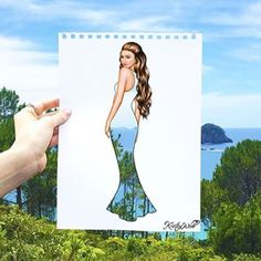 Kristina Webb @colour_me_creative Instagram photos- drawing of Zendaya