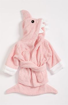 Baby Aspen 'Let the Fin Begin' Terry Robe (Baby) available at #Nordstrom
