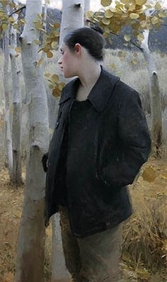 Painting by Jeremy Lipking