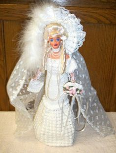 BARBIE - OOAK (ONE OF A KIND) CROCHET BRIDE DOLL #DollswithClothingAccessories