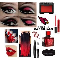 A beauty collage from August 2014 featuring nars cosmetics, moisturizing lipstick and MAKE UP FOR EVER. Browse and shop related looks. Az Cards, Arizona Cardinals Football, Nfl Broncos, Adult Party Themes, Game Face, Costume Makeup, Football Season, Hair And Nails, Eye Makeup