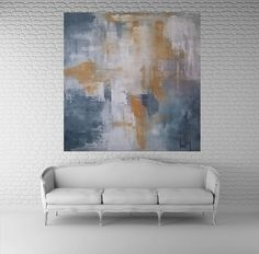 Original painting art abstract large. 48x48. unstretched kris gould modern art acrylic rollled canvas FREE SHIPPING WORLDWIDE home decor