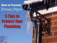 Don't wait until your frozen pipes have burst! Learn how to prevent frozen pipes when the temperat . Sewer Line Replacement, Frozen Pipes, Mobile Home, Water Pipes, Plumbing, Improve Yourself, Faucets, Electric, Vanity