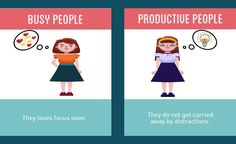 Difference No.8- Busy People V/S Productive People #productive #busy #people