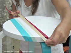 Personalización muebles ikea con pinturas y washi tape ༺✿ƬⱤღ http://www.pinterest.com/teretegui/✿༻