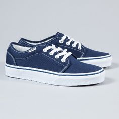 Vans  Women's Navy 106 Vulcanised Trainers: An instant classic and an iconic style.. Vans trainers are the go-to shoe for everyday cool. Vulcanised rubber sole, double stitched canvas upper, padded 'collar', minimal branding at the heel.