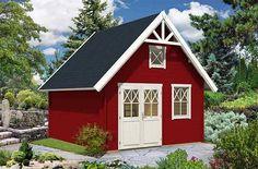 Gartenhaus im Schweden-Style