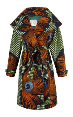 Lidia Belted Trench Coat by Stella Jean - Moda Operandi African Inspired Fashion, Africa Fashion, African Fashion Dresses, African Attire, African Wear, African Dress, Stella Jean, Batik Fashion, Fashion Fabric